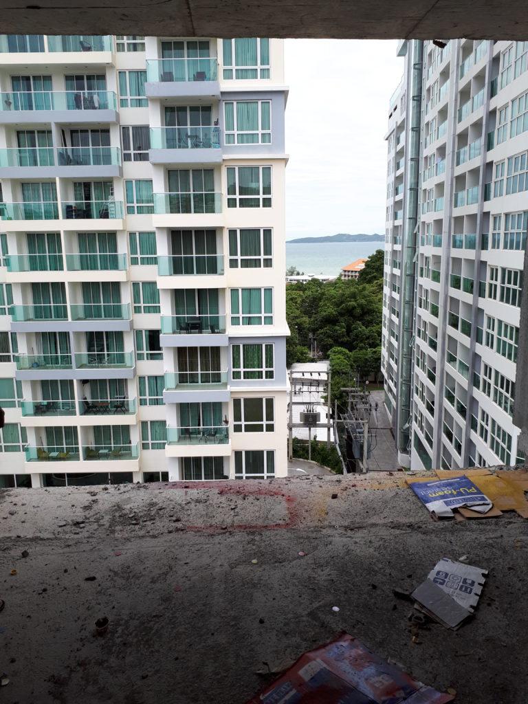 Вид на сиамский залив из новостройки.
